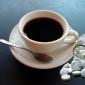 Чёрный кофе и таблетки для похудения